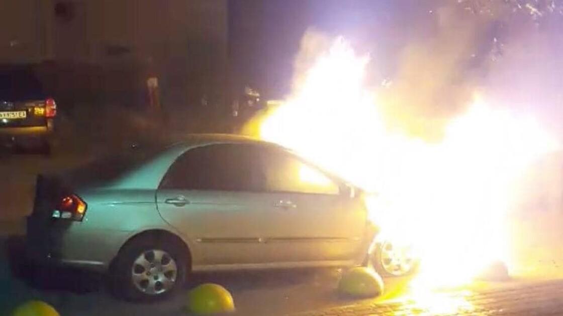 """Сгоревшее авто съемочной группы программы """"Схемы"""""""