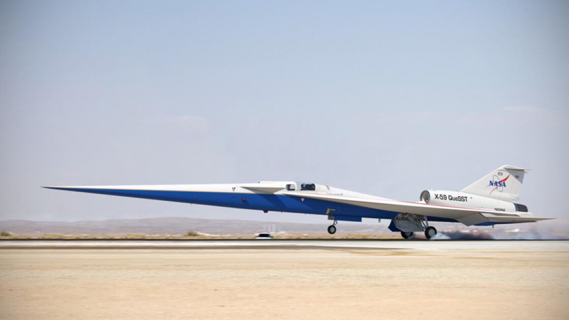 Самолет X-59 QueSST будет летать со скоростью до 1500 км/ч на высоте до 16,8 км