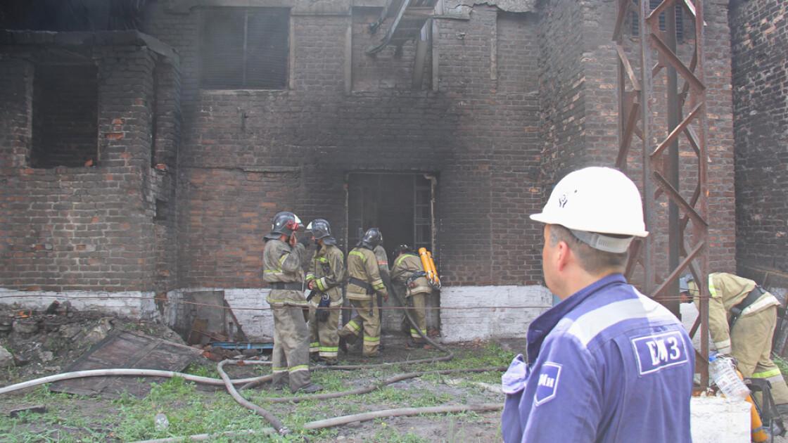 На Енакиевском металлургическом заводе произошел пожар , фото-1