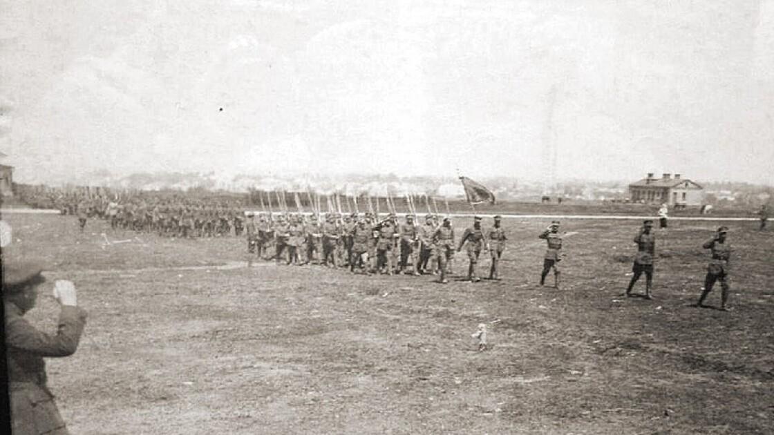 Парад 6-й сечевой стрелковой дивизии. Бердичев, май 1920