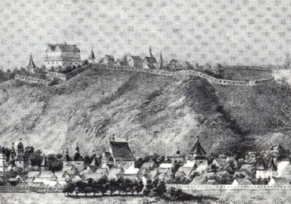 Киевский замок. Рисунок Вестерфельда. 1651 г.