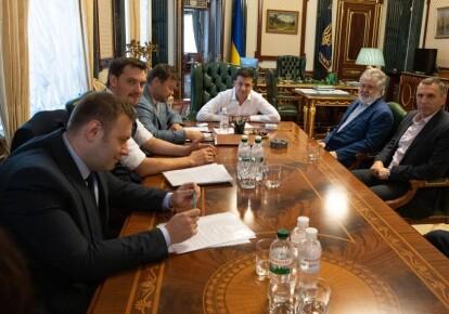 Встреча Владимира Зеленского с Игорем Коломойским