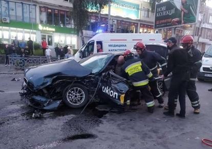 Зіткнулися автомобілі Skoda та BMW