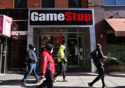 Магазин GameStop в Бруклине, Нью-Йорк, 28 января 2021 года