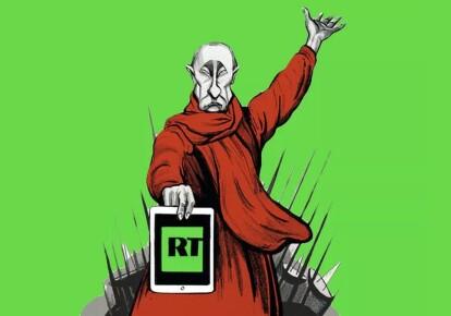 Карикатура с изображением президента России Владимира Путина