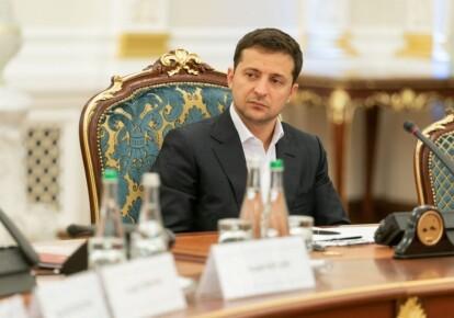 Владимир Зеленский на заседании СНБО