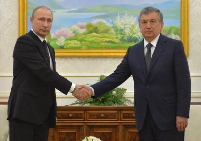 Президент РФ Володимир Путін і прем'єр-міністр Узбекистану Шавкат Мирзиеев. Фото: 365info.kz