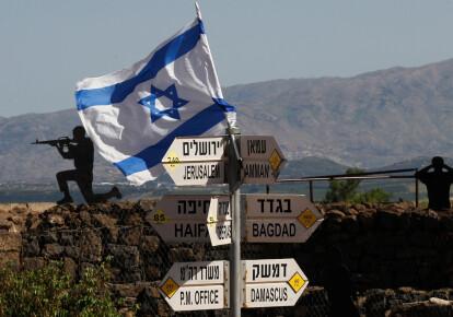 Израильский флаг на Голанских высотах. Фото: East News