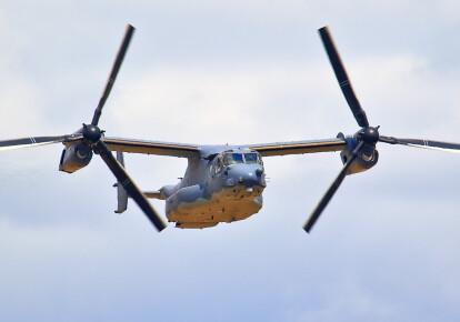 """Десантные конвертопланы V-22 """"Оспрей"""" прибыли в Украину для участия в учениях Rapid Trident 2020 / dumskaya.net"""