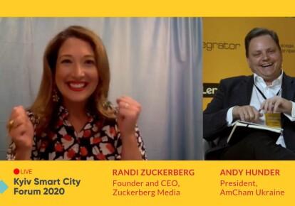 Хедлайнером Kyiv Smart City Forum 2020 стала основательница Facebook Live Рэнди Цукерберг