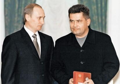 """Владимир Путин и лидер """"Любэ"""" Николай Расторгуев"""