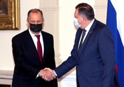 Милорад Додик и Сергей Лавров во время встречи