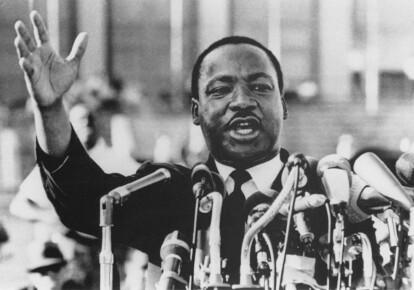Мартін Лютер Кінг під час виступу, 1960-ті