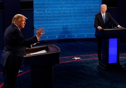 Дональд Трамп и Джо Байден на дебатах