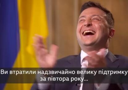 Владимир Зеленский смеется над вопросом о падении его рейтинга