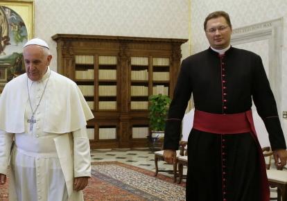 Папа Франциск та Вісвалдас Кулбокас