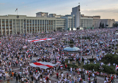 Протесты в Беларуси / Getty Images