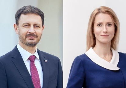 Премьер Словакии Эдуард Хегер и премьер Эстонии Кая Каллас