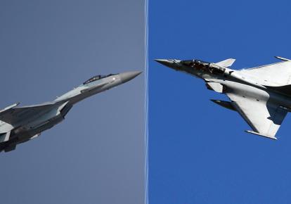 Су-35, Rafale