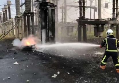 Пожежа сталася на території трансформаторної підстанції