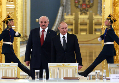Александр Лукашенко и Владимир Путин / Getty Images
