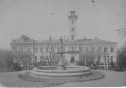 Городской бульвар в Елисаветграде в 1921 г.