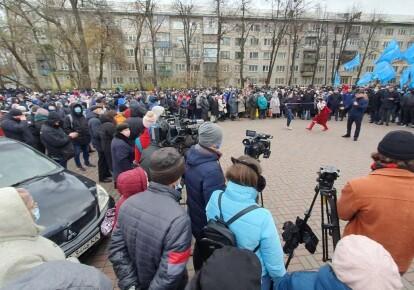 Акция протеста под посольством США/Newsone