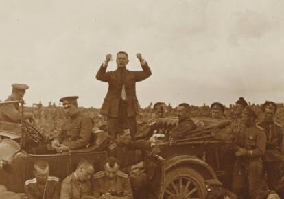 Виступ Керенського на мітингу. Південно-Західний фронт. Травень 1917 р.