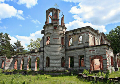 Руины дворца рода Терещенко (с.Дениши, Житомирщина)