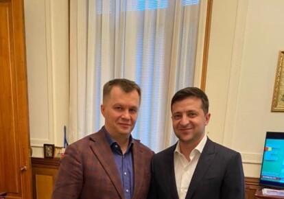 Тимофей Милованов и Владимир Зеленский