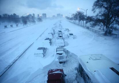 В Киев идут снегопады и похолодание