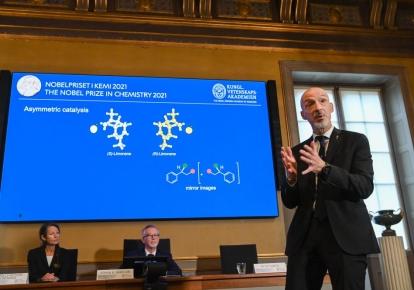 Член Нобелевского комитета по химии Питер Сомфаи