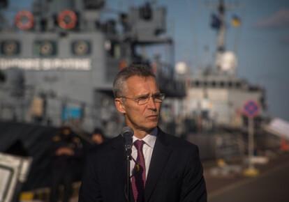 Генеральный секретарь Организации Североатлантического договора (НАТО) Йенс Столтенберг в Одессе. Фото: УНИАН