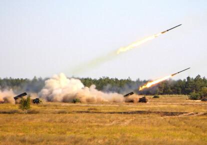 """Ракетні системи залпового вогню """"Вільха"""" під час навчань """"Об'єднані зусилля  - 2020"""""""