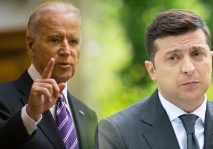 Президент США Джо Байден и президент Украины Владимир Зеленский