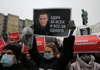 Акция протеста в поддержку Алексея Навального в Москве