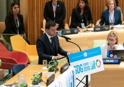 Владимир Зеленский назвал агрессию России препятствием для развития Украины во время выступления на саммите ООН. Фото: Офис президента