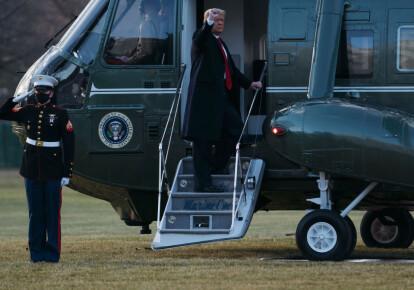 Дональд Трамп покинув резиденцію в Білому домі