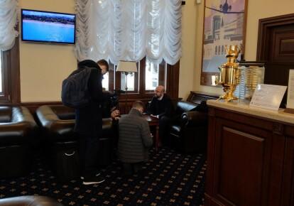 Шарль Мишель в аэропорту Харькова