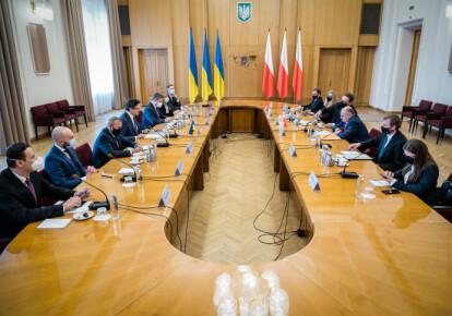 Встреча главы МИД Польши Збигнева Рау и министра иностранных дел Украины Дмитрия Кулебы