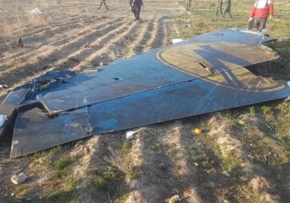 Місце аварії літака МАУ в Ірані