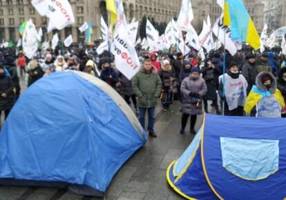 Установленные палатки