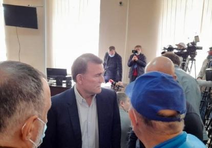 Виктор Медведчук в зале суда