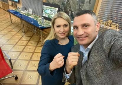 Оксана Юринец и Виталий Кличко