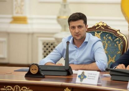 Президент Владимир Зеленский на заседании СНБО