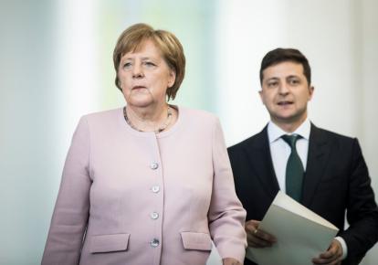 Ангела Меркель і Володимир Зеленський