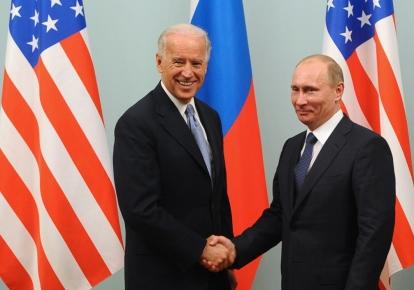 Джо Байден и Владимир Путін