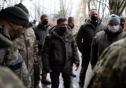 Владимир Зеленский в Донбассе