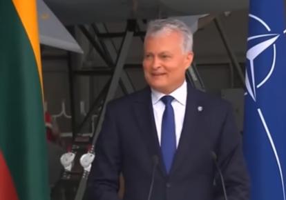 Гітанас Науседа/скріншот з відео