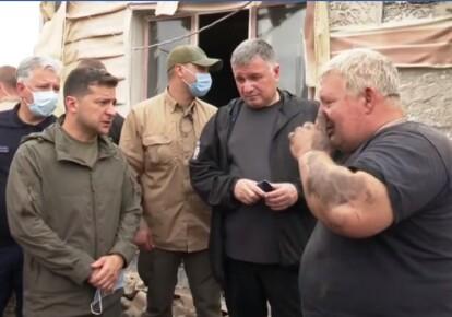 Володимир Зеленський і Арсен Аваков в Луганській області. Фото: скріншот відео/Офіс президента